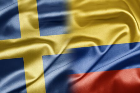 Sweden and Columbia Stock Photo - 17518820