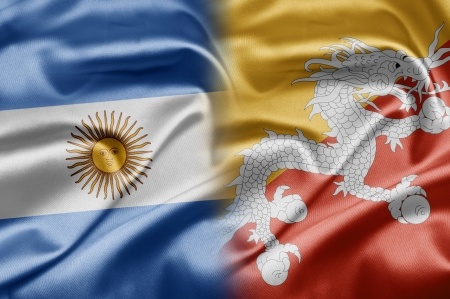 Bhutan: Argentina and Bhutan Stock Photo