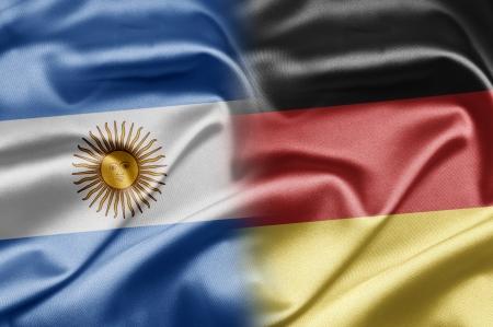 argentina flag: Argentina and Germany Stock Photo