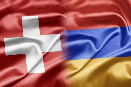 Switzerland and Armenia Stock Photo - 17554313