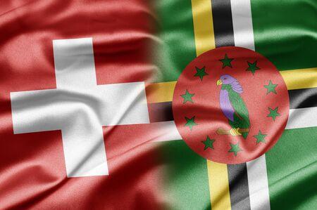 dominica: Switzerland and Dominica Stock Photo