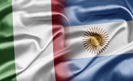 bandera argentina: Italia y Argentina