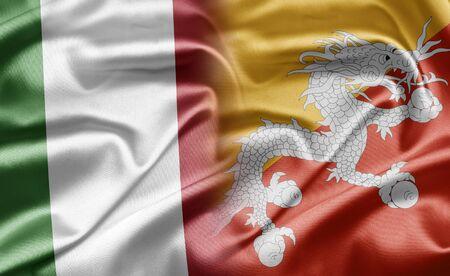 Bhutan: Italy and Bhutan Stock Photo