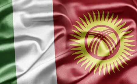 kyrgyzstan: Italia y Kirguist�n Foto de archivo