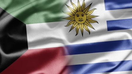 koweit: Le Kowe�t et l'Uruguay Banque d'images