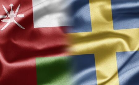 Oman and Sweden Stock Photo - 17648293