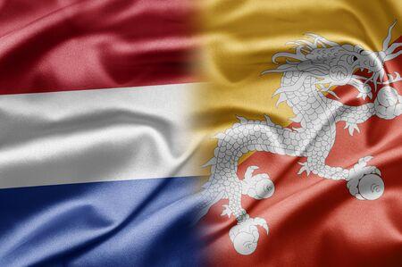 Bhutan: Netherlands and Bhutan Stock Photo