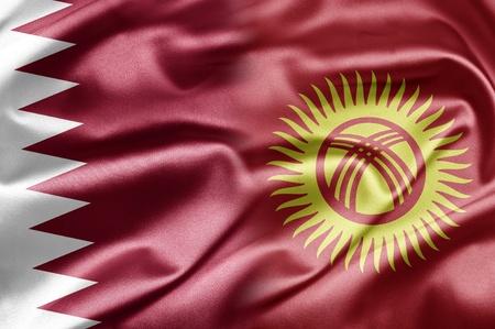 kyrgyzstan: Qatar and Kyrgyzstan Stock Photo