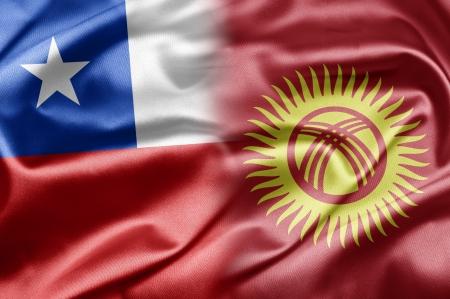 kyrgyzstan: Chile y Kirguist�n Foto de archivo