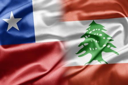 chilean flag: Chile and Lebanon