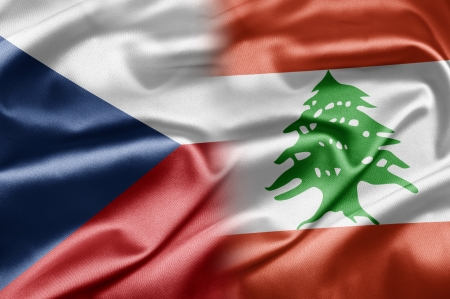 Czech Republic and Lebanon Stock Photo