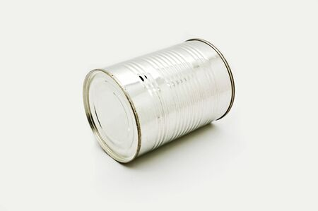 canned food: Food tin can on white background, natural shadow underneath