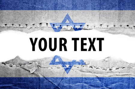 Israel flag with text space photo