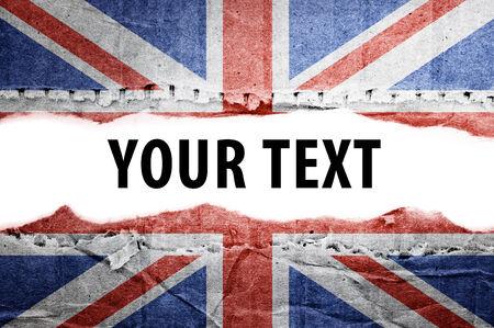 britan: Flag  Text space  Stock Photo