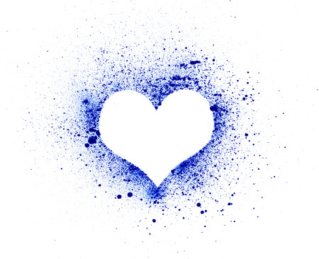 Grunge heart, ink splatter Stock Photo - 22685710