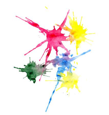 splatter paint: Multi-colored blots