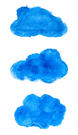 Watercolor clouds photo