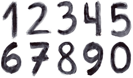 Set of grunge numbers photo