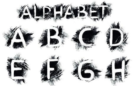 Grunge alphabet photo