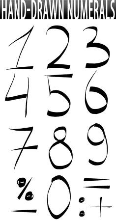 Numbers hand-drawn set photo