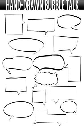 halfone: Hand-drawn speech bubbles