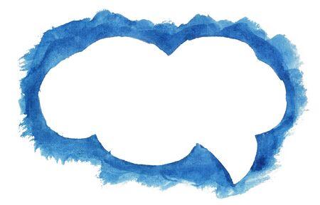speech cloud: Watercolor speech cloud