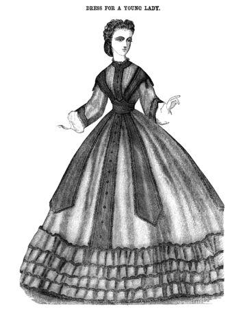 レトロな彫刻。ドレス
