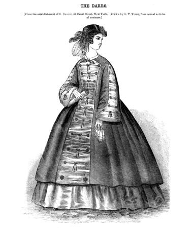 Retro engraving. Dress