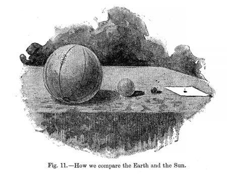 Astronomical illustration. Old image