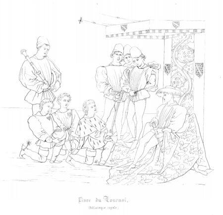 Christian illustration. Ancient historical illustration 版權商用圖片