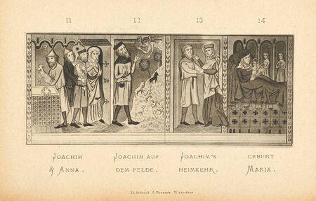 Christian illustration. Old image Stock Photo