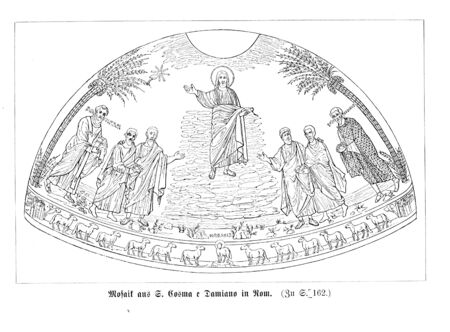 Christian illustration. Old image