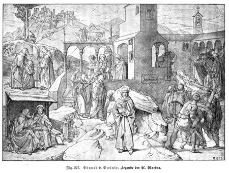 Christian illustration. Old image Stockfoto