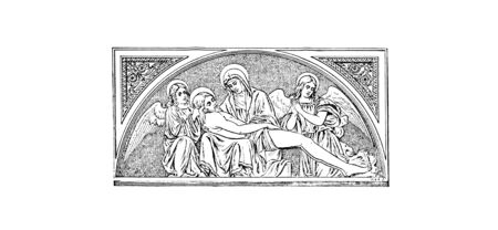 Christian illustration. Old image Stock Photo