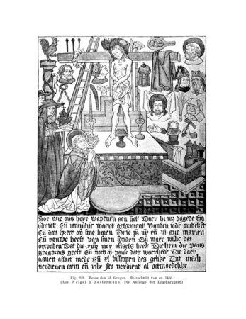 Christian illustration. Retro and old image Stock Photo