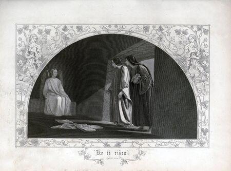 Christian illustration. Retro and old image Stockfoto