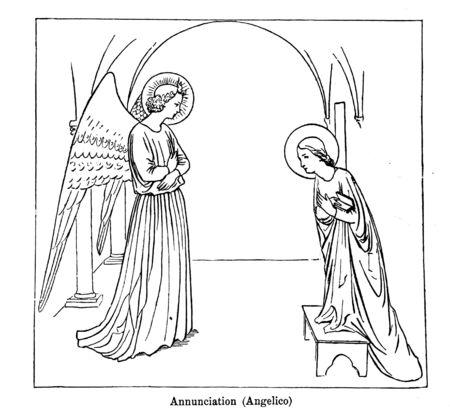 Christian illustration. Retro and old image