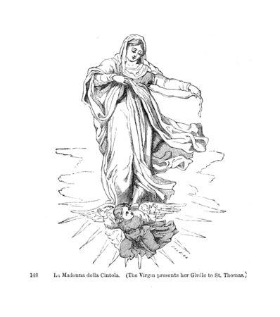 illustrazione cristiana. Immagine retrò e vecchia