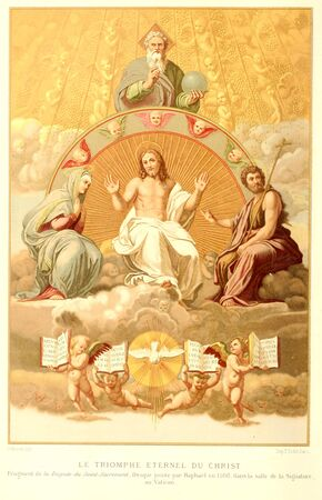 Christian illustration. Retro and old image Stock Photo