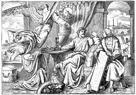 Christliche Abbildung. Retro und altes Bild Standard-Bild