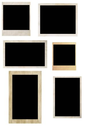 photo frames isolated on white Stock Photo - 3248666