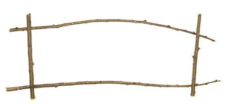 twig frame isolated on white Stock Photo - 5617980