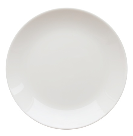 Plato blanco aislado en blanco Foto de archivo - 12715532