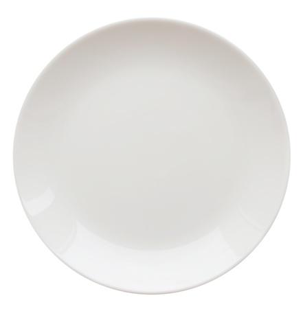 witte plaat geà ¯ soleerd op wit