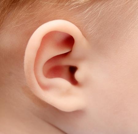 Cerca de la oreja del bebé Foto de archivo - 15258986