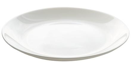 empty plate isolated on white Standard-Bild