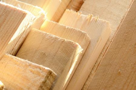 stack van een houten planken Stockfoto