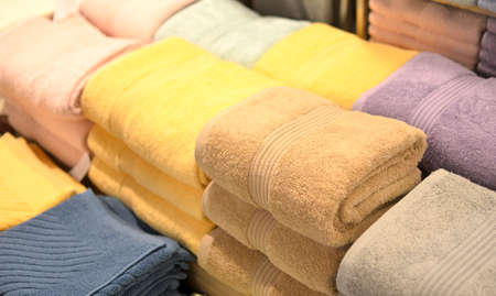 colorful towels in the shop Stock Photo - 17987325