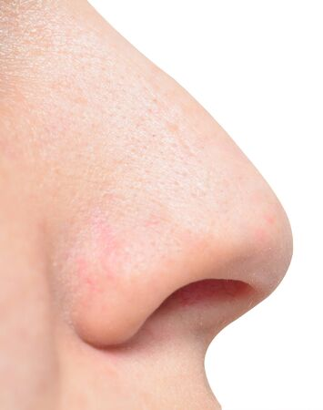 human nose isolated on white 写真素材