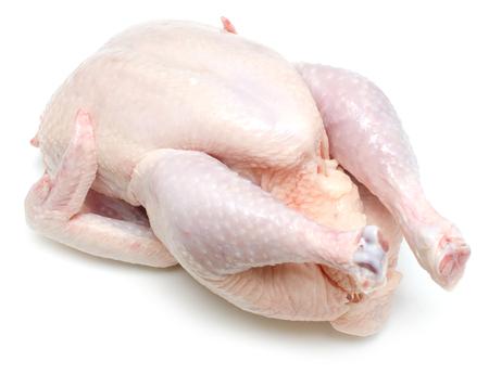 raw chicken isolated on wihte background